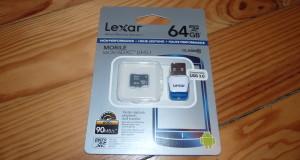 Test Lexar microSDXC UHS-I 600x